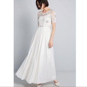 ModCloth Ivory Maxi Dress